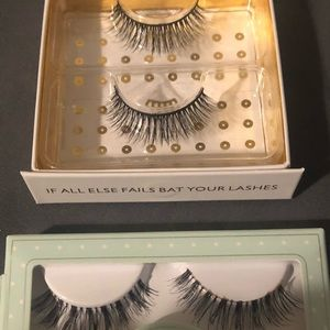 Two pairs of silk lashes